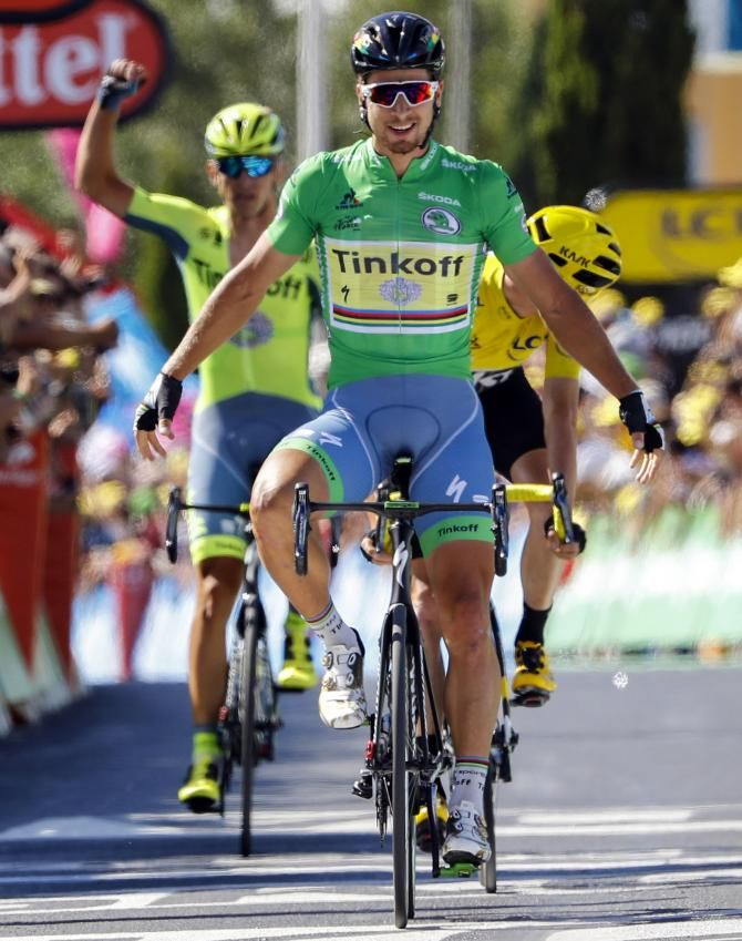 """#TDF2016 #Sagan wins stunner of a stage in Montpellier! #Froome goes on the attack on windy """"sprint"""" stage!"""