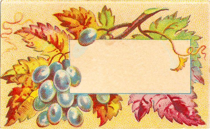 -CatnipStudioCollage-: Free Vintage Clip Art - Autumn Leaves Calling Cards: