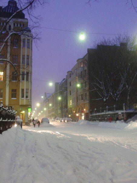 Liisankatu, Helsinki, in January 2010. Photo by Milla Nyholm.