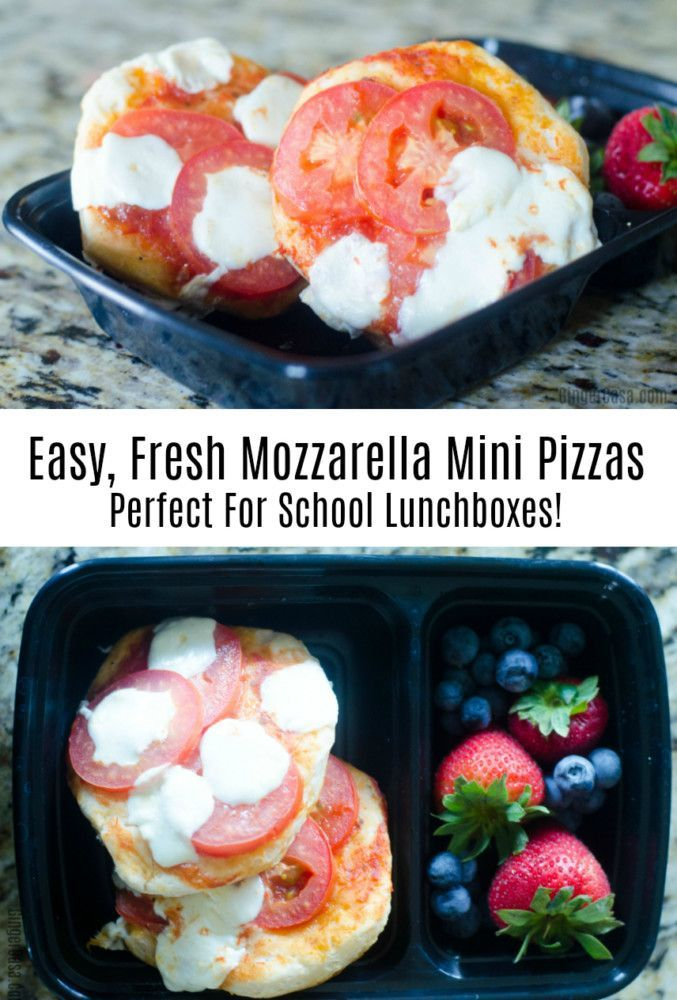 Want to pack a lunch that will both impress your kids and fill up their tummies? Fresh Mozzarella Mini Pizzas are great for lunchboxes!