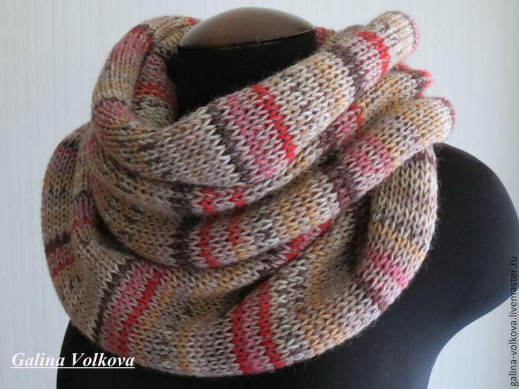 Купить Вязаный шарф снуд Любимый - мужской шарф, женский шарф, вязаный шарф