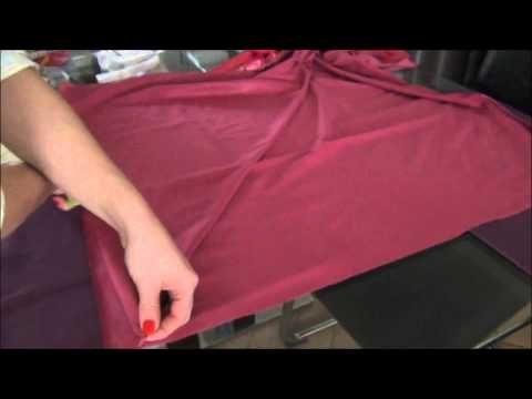 comment faire une jupe cloche - YouTube