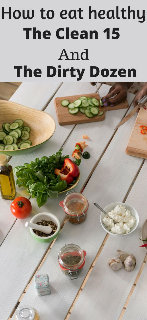 The Clean 15 and the Dirty Dozen. Eating healthy on a budget. Save money on fresh veggies.