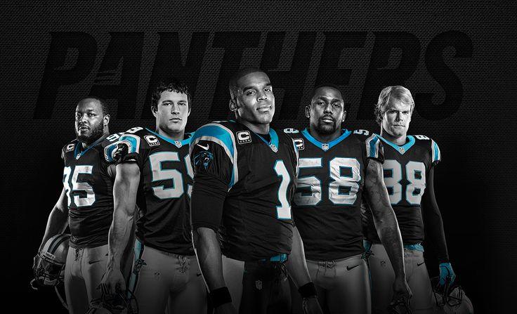 Carolina Panthers - Charles Johnson, Luke Kuechly, Cam Newton, Thomas Davis, Greg Olsen  #keeppounding