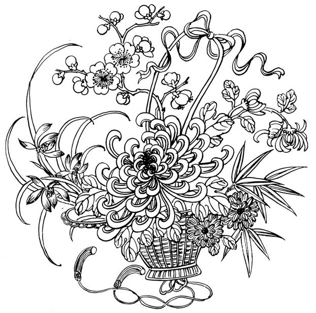 Easter Flowers Colouring Pages : 481 best color art therapy flowers trees gardens and just