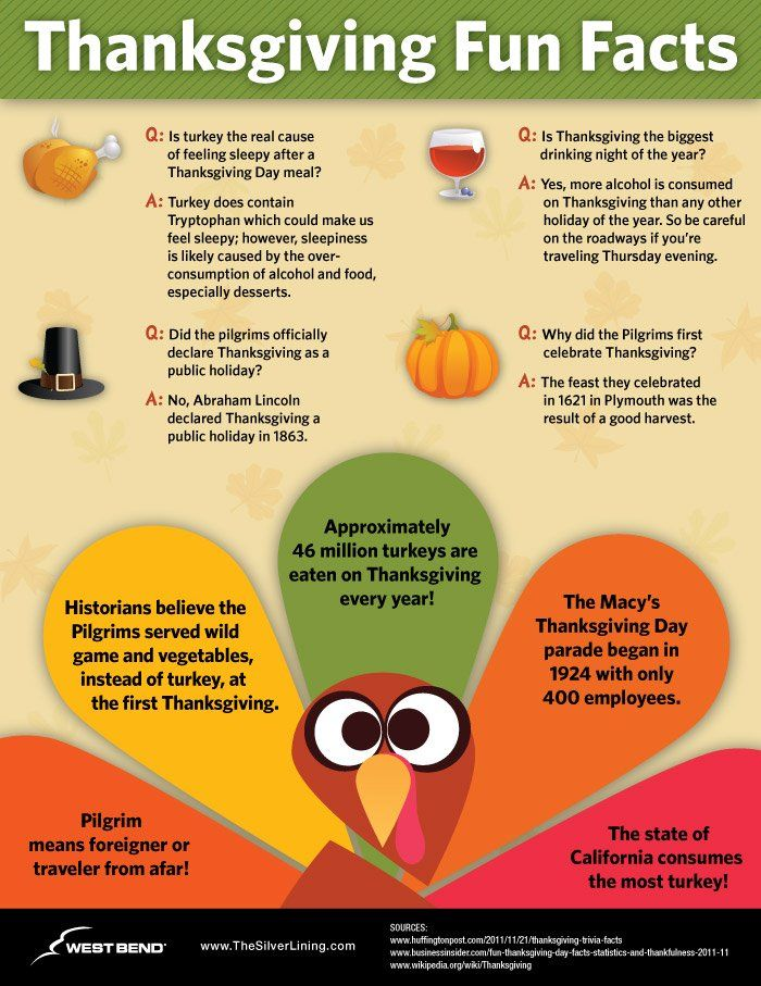 Thanksgiving facts and stats Thanksgiving fun facts