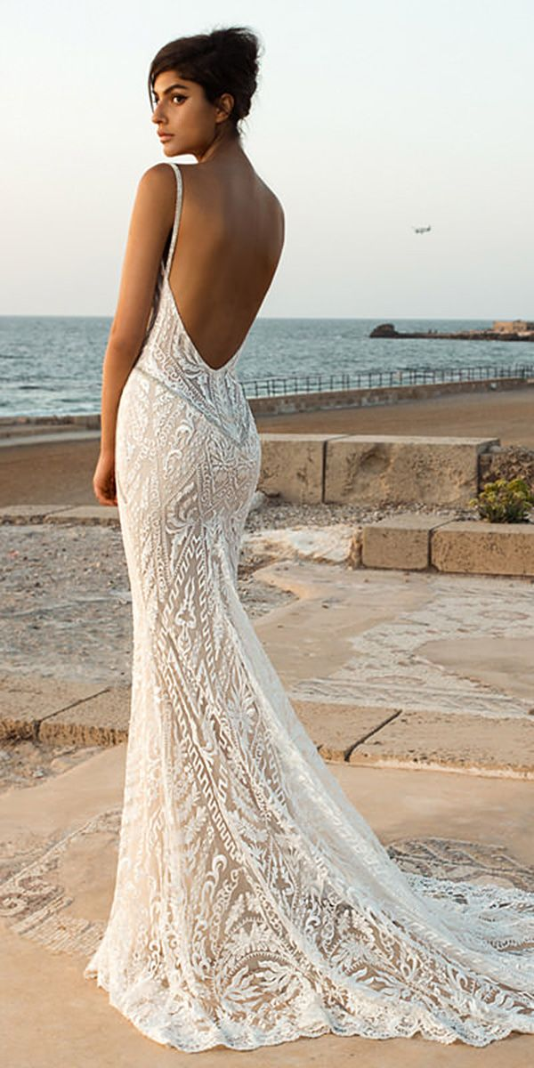 21 Fantastic Lace Beach Wedding Dresses ❤  lace beach wedding dresses backless with straps sexy galia lahav ❤ Full gallery: https://weddingdressesguide.com/lace-beach-wedding-dresses/