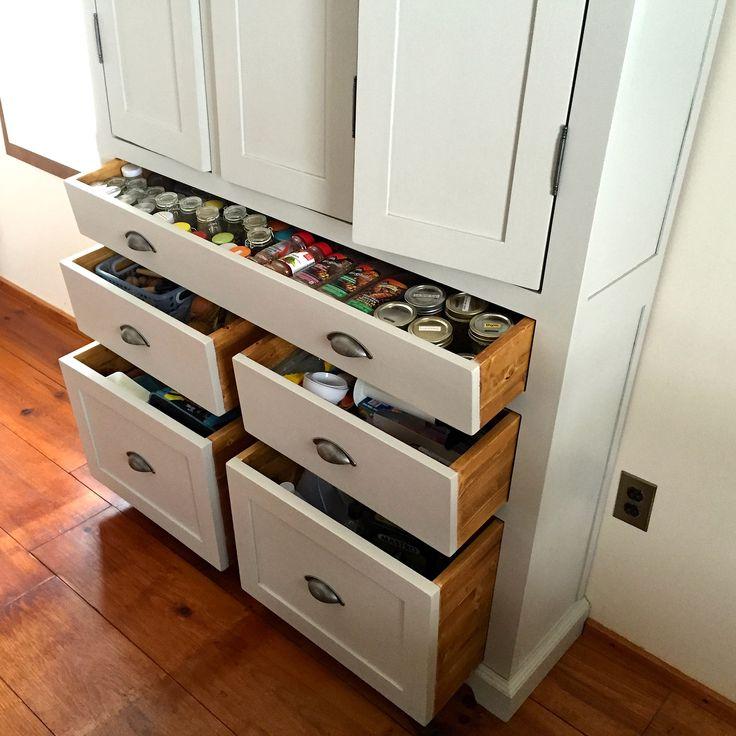 Garde Manger en Pin et peinture de lait-armoire- cuisine ...