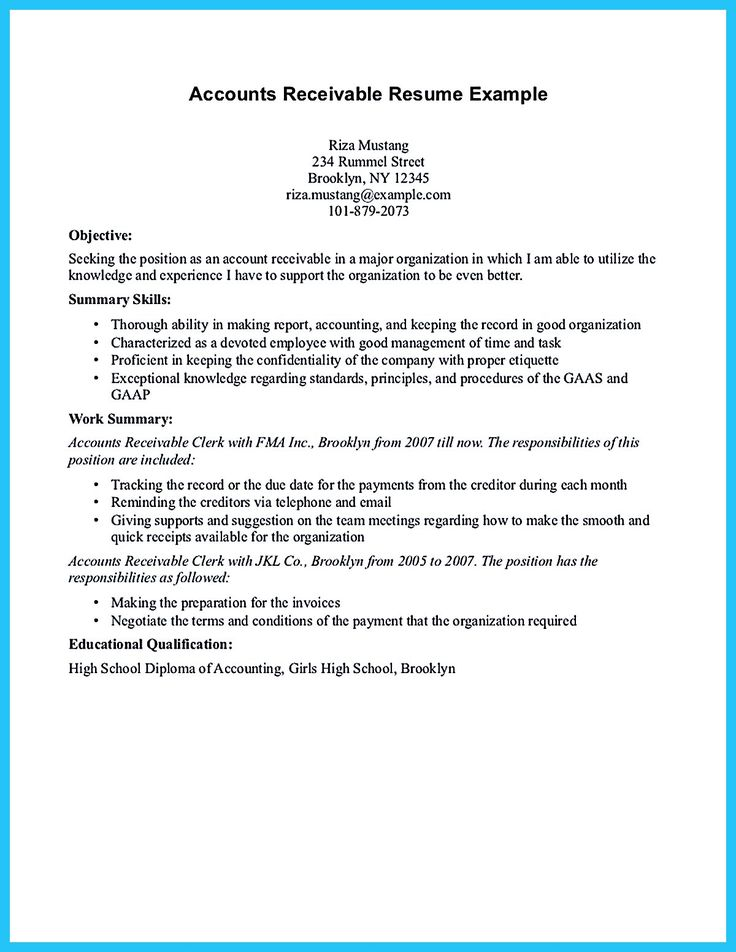 accounts receivable manager resume examples template the summary supervisor