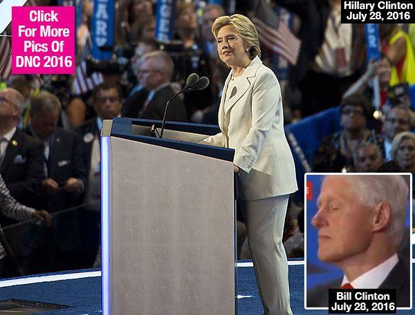 Bill Clinton Caught Sleeping During Hillary's Historic DNC Speech —Watch