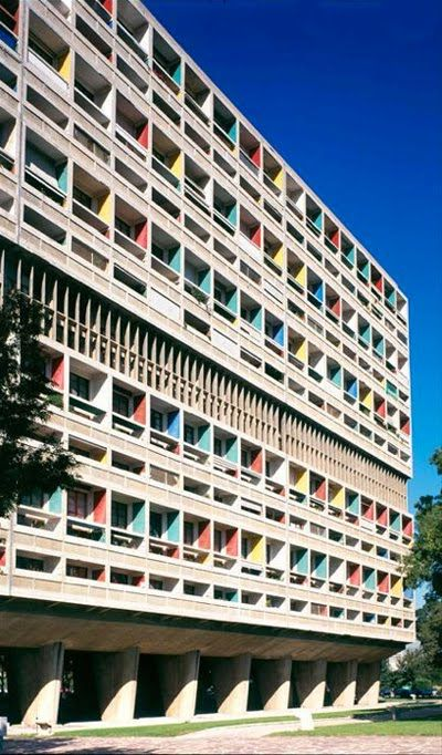 l'Unite d'Habitation (La Cité Radieuse), Marseille, France by Le Crobusier :: 1952, beautiful but vaguely fascistic and totalizing.