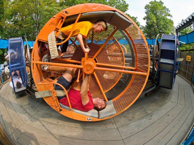 The Looper at Knoebels Amusement Resort in Elysburg, Pa., turns humans into…