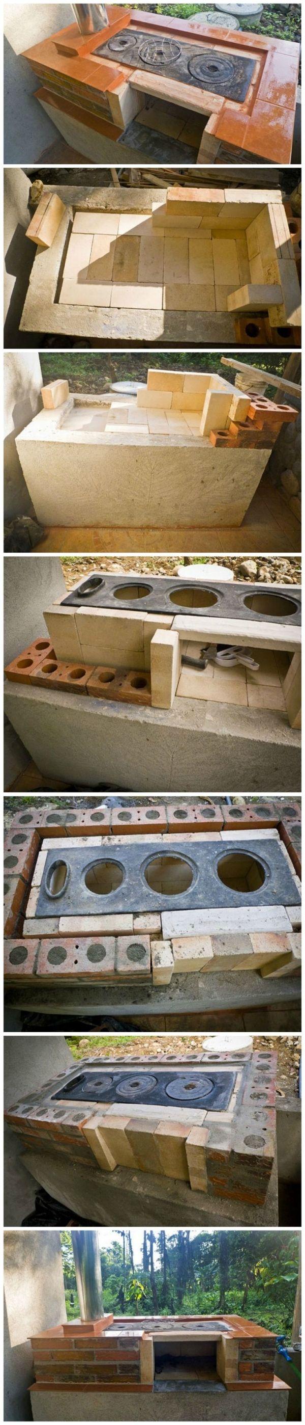 Comment construire votre propre poêle à bois, four, cuisinière, gril et fumeur en plein air par Rosemarie