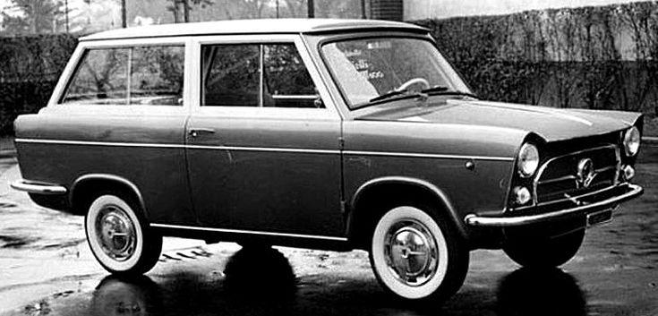 Fiat Viotti Giardinetta, voiture prototype de 1959 La Fiat 600 Viotti Giardinetta concept, photo d'époque, cette ancienne voiture prototype fut produite en 1959.