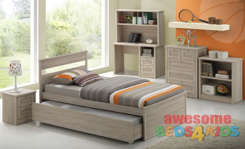 Capri 5 Piece Bedroom Suite King Single with Trundle - Awesome Beds 4 Kids