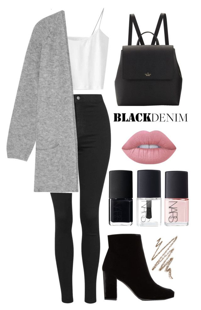 """"""""""" by karina-r11 ❤ liked on Polyvore featuring Topshop, By Malene Birger, Yves Saint Laurent, Kate Spade, Anastasia Beverly Hills, Lime Crime and NARS Cosmetics"""