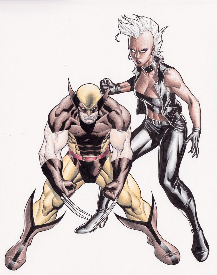 Wolverine and Storm// artworkby Clayton Henry(2013)