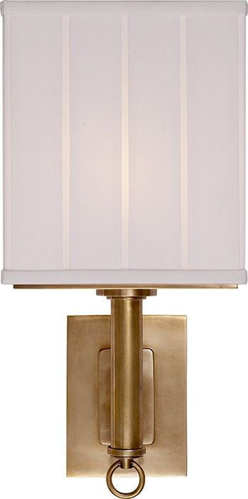 Visual comfort thomas obrien germain 1 light 7 inch hand rubbed antique brass decorative wall light in none