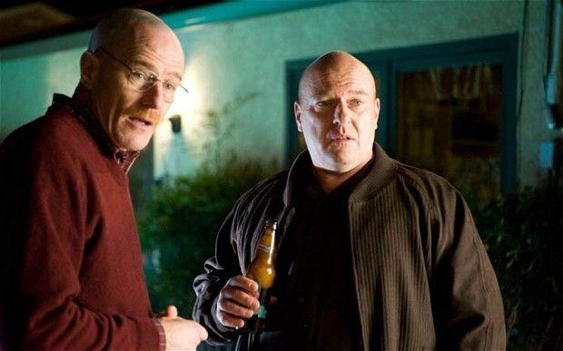 Walter White (Byran Cranston) and Hank Schrader (Dean Norris) in Breaking Bad