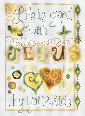 Jesus By Your Side - Cross Stitch Kit