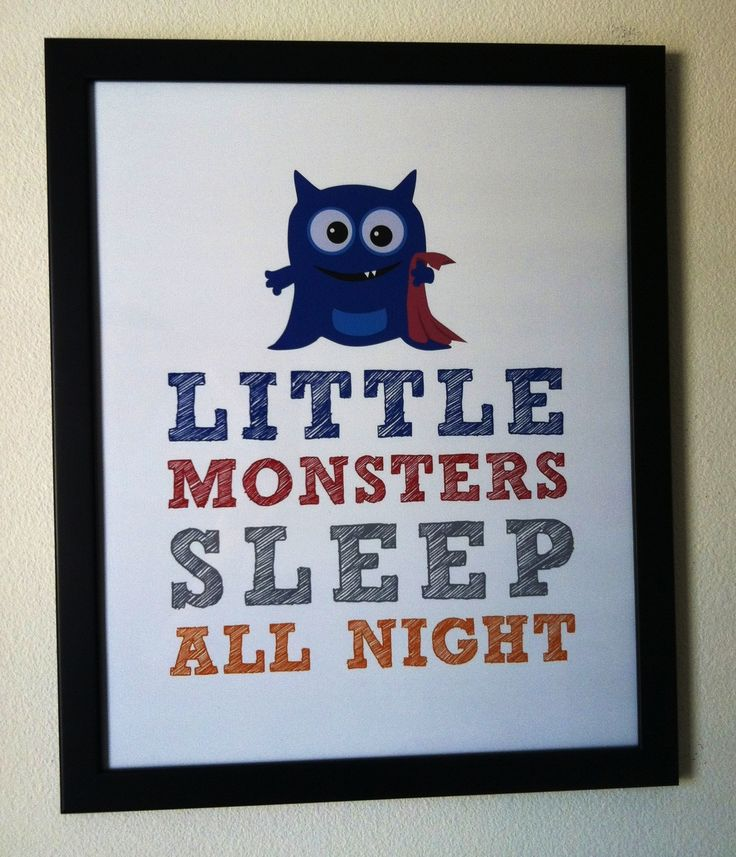 monster nursery | Little Monster | Letters to Z