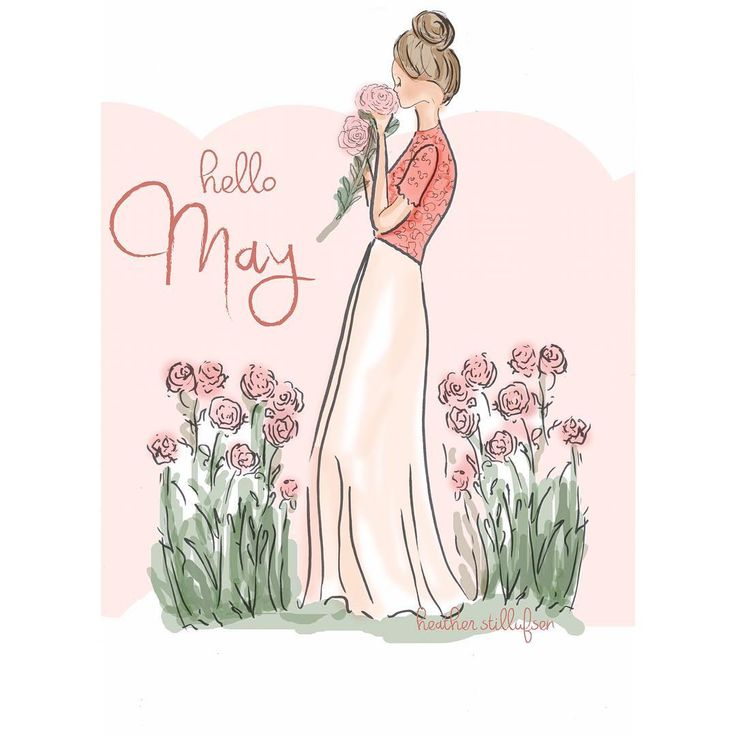 Hello May #may #gardens #floral #fashion #illustration 💕🌷🎨☀️