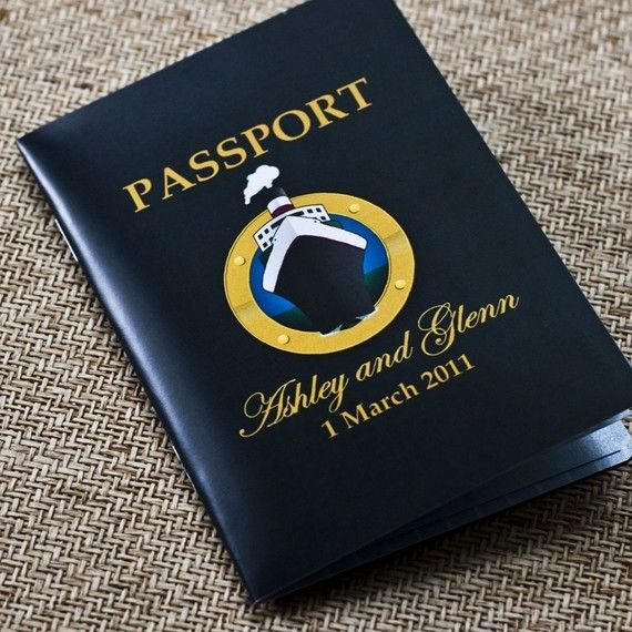 passport wedding invitation design fee cruise ship wedding