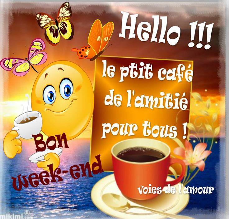 Hello !!! le ptit cafe de l'amitie pour tous! Bon week-end #bonweekend