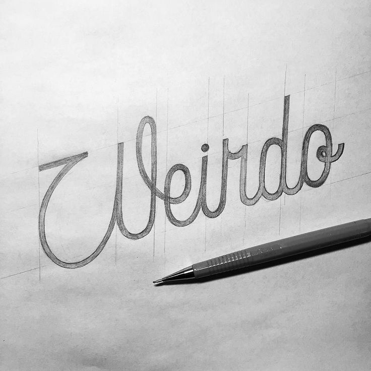 Weirdo! #handlettering #lettering #typematters #typography #typographyinspired #type #thedailytype #typeverything #goodtype #calligritype #typetopia #typeworship #typespot #thedesigntip #typegang #artoftype #typostrate #TY_CA #ligaturecollective #script #pencil #weirdo by typo_steve