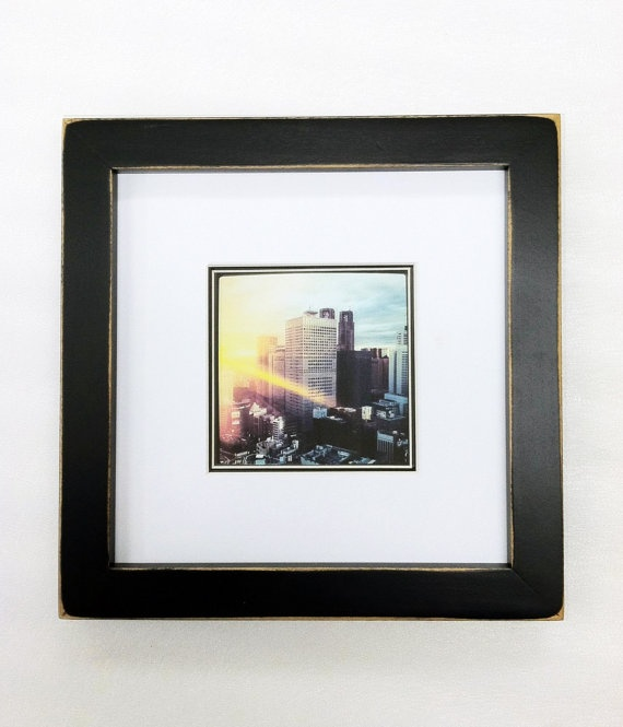 8x8 picture frame with 1 inch border holds 4x4 picture