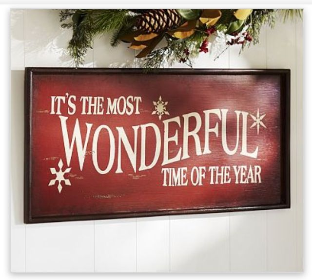 Christmas sign from Pottery Barn.