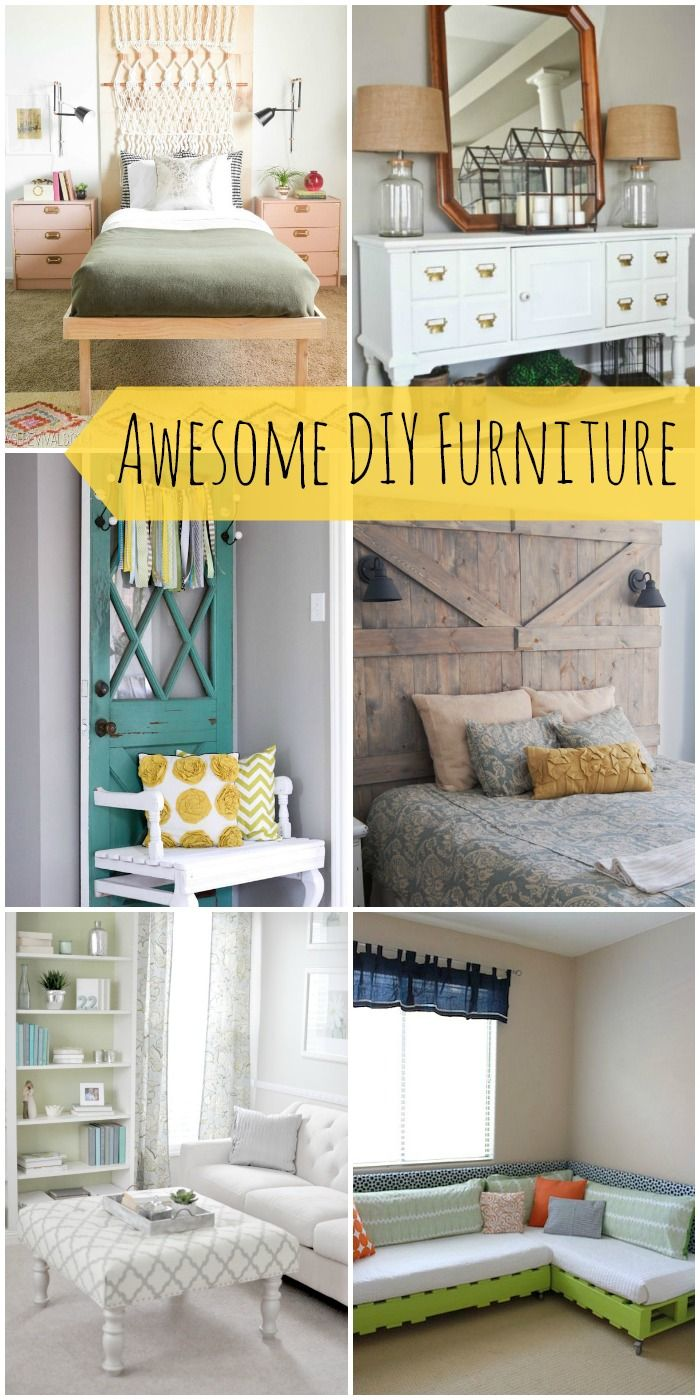 a roundup of awesome diy furniture that will give you lots of ideas for creating your own. Black Bedroom Furniture Sets. Home Design Ideas