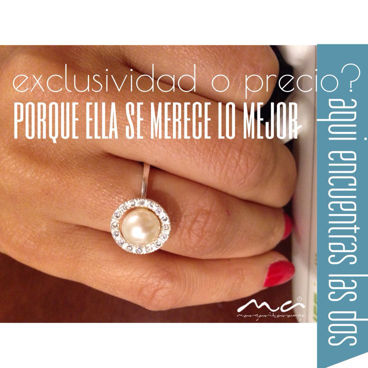 Anillo en plata con perla natural y diamantes