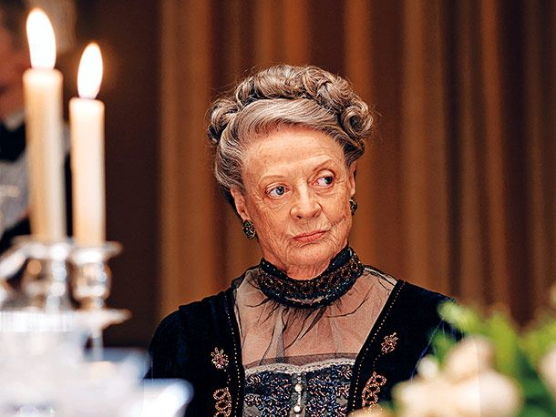 """The Dowager Countess of Grantham, Downton Abbey    Claire Cottrell is partial to the funniest character ever to appear on a Masterpiece Classic series. She compliments Maggie Smith's Dowager Countess on """"the most hilarious eye-rolls and scathingly condescending quips on television. Hands down."""""""