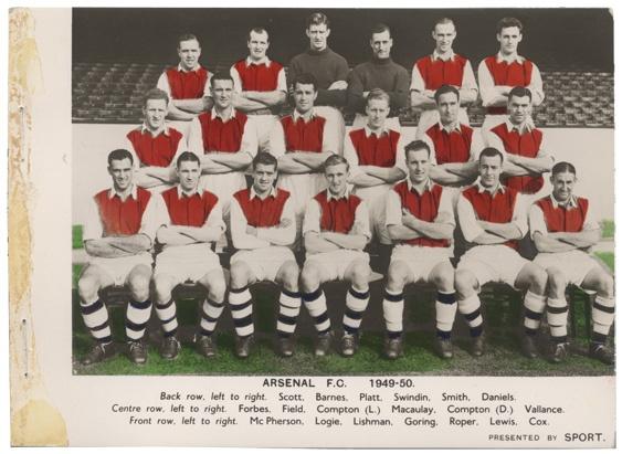Arsenal 1949-50.