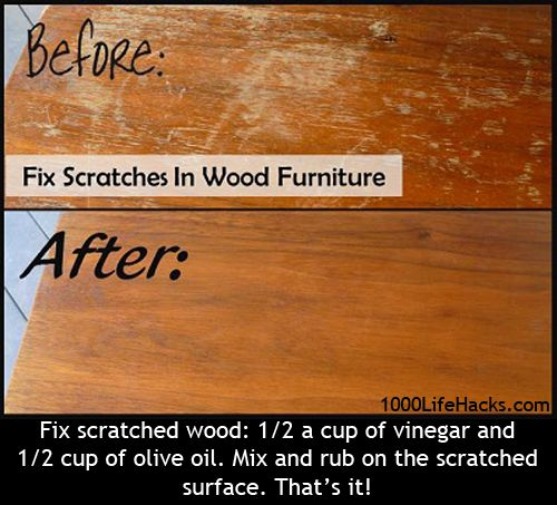 Fix Scratches on Wood furniture