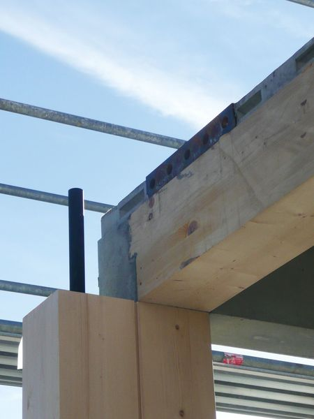Holz-Hybrid-Bausystem: Illwerke Zentrum Montafon, Montage