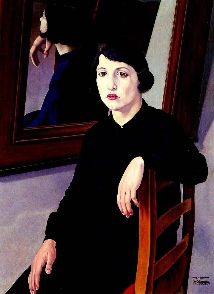 cagnaccio di san pietro, la ragazza e lo specchio, 1932
