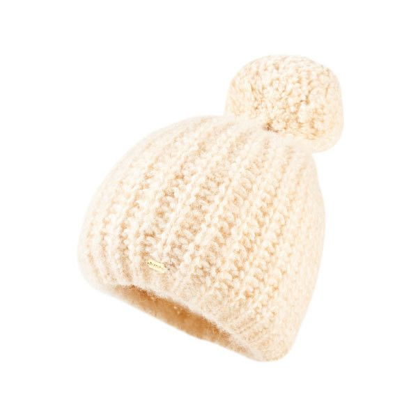 Superdry Super Luxe Beanie ($25) ❤ liked on Polyvore featuring accessories, hats, cream, bobble beanie, beanie caps, ribbed beanie hat, beanie bobble hat and cream beanie