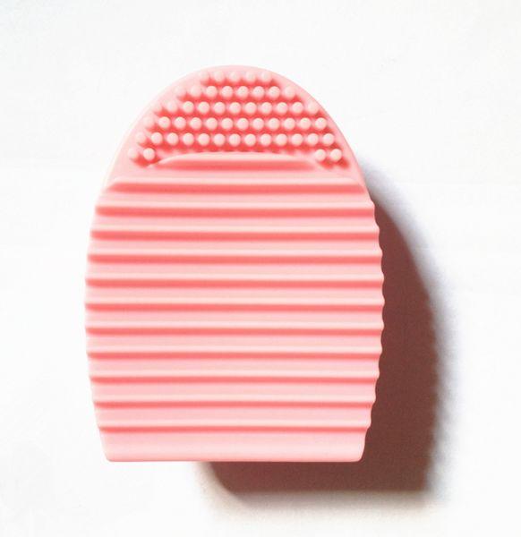 Brushegg-Brushcleaner-Rengöringsverktyg för sminkborstar (Rosa)