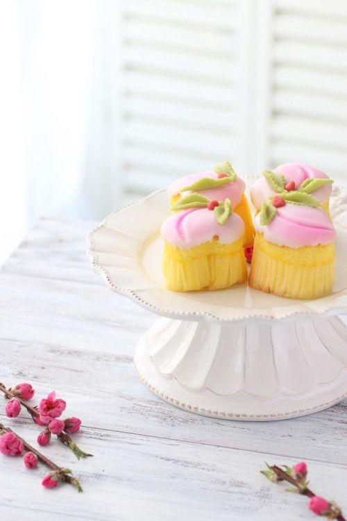 """peach sponge cake"""