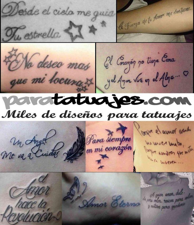Frases de amor para tatuajes Ideas y ejemplos  Para Tatuajes