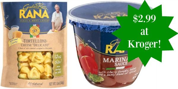 Kroger: Giovanni Rana Pasta and Sauce Only $2.99!
