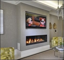 Image result for horizontal fireplace