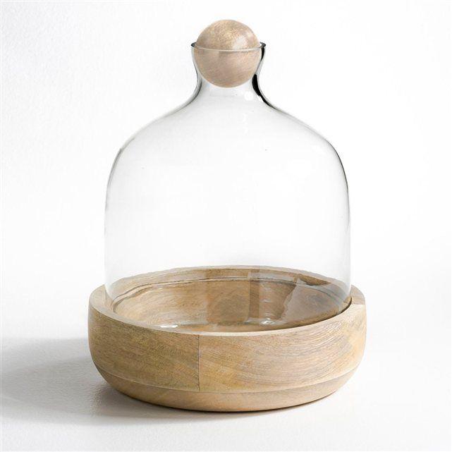 Terrarium Rozo verre et manguier AM.PM : prix, avis & notation, livraison.  Terrarium composé d'un socle en manguier massif, d'une coupelle et d'une cloche en verre à fermer par une boule en manguier.Apportez un peu de verdure à l'intérieur de la maison grâce à ce terrarium qui deviendra vite un jardin miniature. Cette mini-serre met à profit le recyclage de l'air et de l'eau.Le récipient transparent laisse passer la lumière mais quand il est clos, il favorise une évaporation et une ...