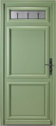 Graphite - Porte d'entrée wood classical small window Bel'M