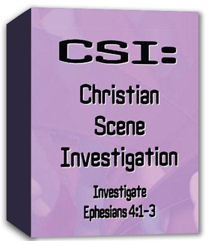 CSI Chrstian Scene Investigation Curriculum