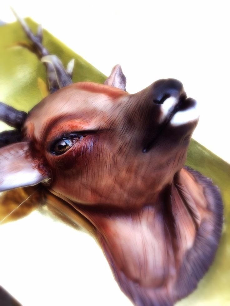 Kricky Cakes Decoration: Realistic Deer cake tutorial with airbrush HD 1...