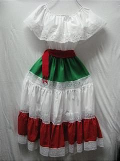 Mexican Dress TriColor $34.95 1 size