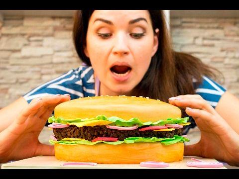 3д торт «Гамбургер» / 3D cake «burger» - Я - ТОРТодел! - YouTube